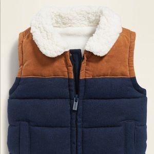 Baby puffer vest - fleece lined